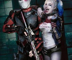 harley quinn, deadshot, and suicide squad image