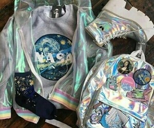 backpack, cool, and holographic image