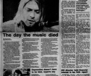 kurt cobain, nirvana, and the day the music died image