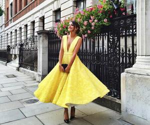 dress, yellow, and sun image