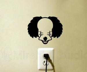 bumper stickers, decor, and horror movie image