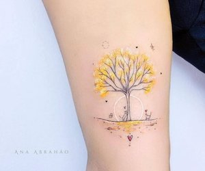 tattoo, art, and tree image