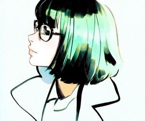 anime girl, art, and draw image