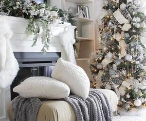 home, winter, and christmas image