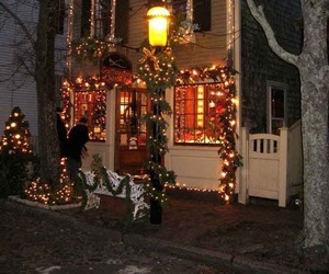 architecture, Nantucket, and christmas image