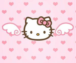 hello kitty, wallpaper, and pink image