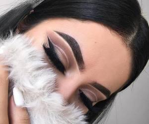 girl, make up, and makeup image