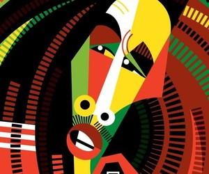 art, bob marley, and colourful image