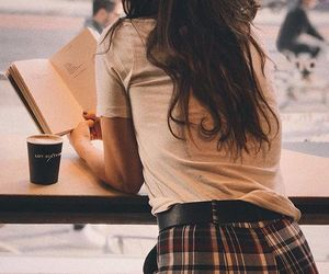 book, fashion, and coffee image