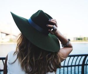 hat, fashion, and hair image
