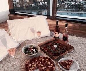 drink, food, and pizza image