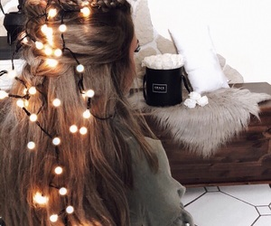 light, hair, and girl image