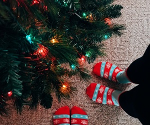 aesthetic, tree, and candy cane image