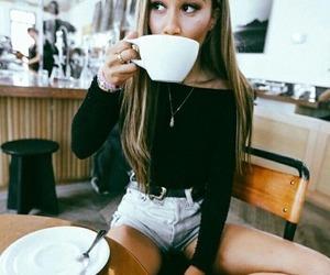 cafe, girl, and tumblr image