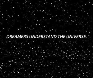 dreamer, universe, and stars image