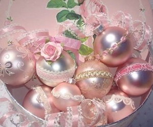 ornaments, christmas, and pink image