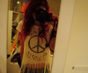 photo, red hair, and peace image