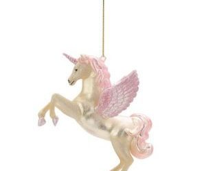christmas, pink unicorn, and decoration image