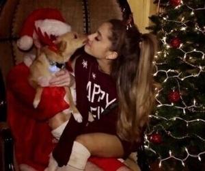 ariana grande, christmas, and santa tell me image