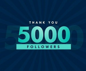 followers, following, and thank you image