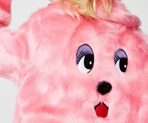faux fur, lazy oaf, and pink image