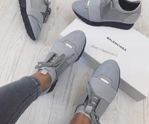 shoes, Balenciaga, and grey image