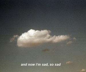 sad, clouds, and sky image
