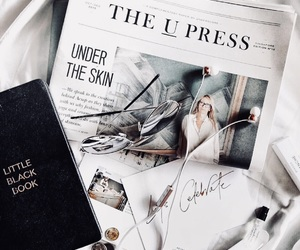 book, white, and newspaper image