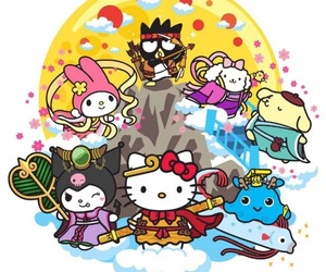 badtz maru, hello kitty, and kawaii image