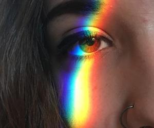 brown eyes, brunette, and eyeliner image