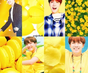 aesthetics, yellow, and jhope image