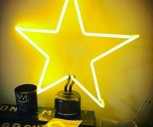 yellow, star, and light image