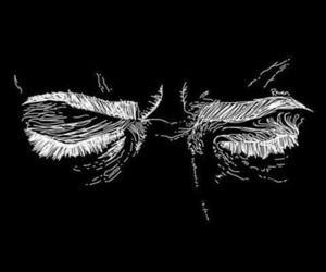 aesthetic, black, and eyes image