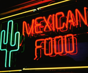 food, mexican, and neon image