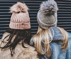 friendship, hats, and winter image