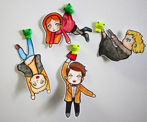 doctor who, amy pond, and river song image