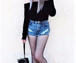 fashion, fishnet, and outfits image