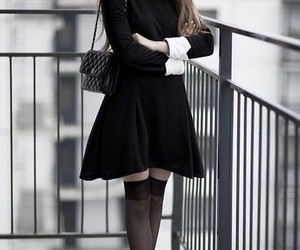 dresses, goth, and peter pan collar image