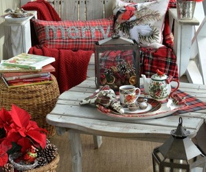 country living, porch, and christmas decor image