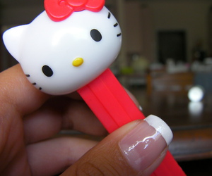 candy, hello kitty, and pez image