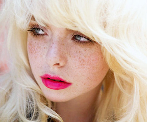 blonde, pretty, and grey eyes image