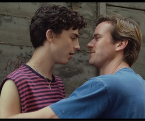 call me by your name, oliver, and timothee chalamet image