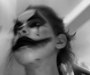 clown, scary, and haloweenmakeup image