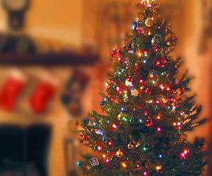 christmas, light, and merry christmas image