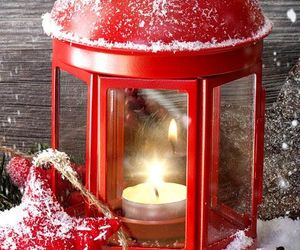 christmas, candle, and red image
