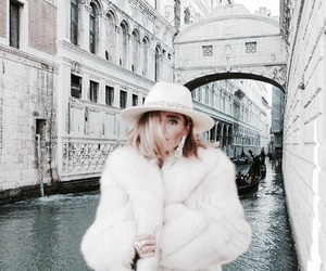 fur, venice, and white image