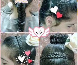girl, تسريحات, and hair image