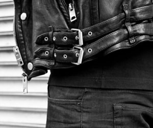 black, leather, and rock image