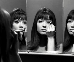 anna karina, black and white, and 60s image