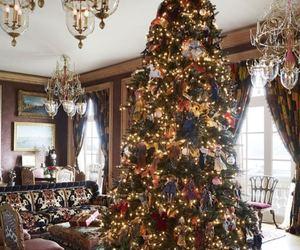 christmas, cold, and tree image